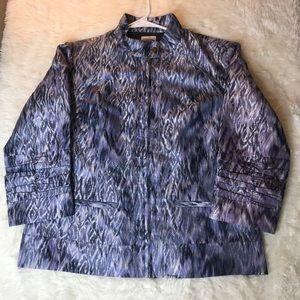 Chico's Women's Zip Up Metallic Jacket Size Medium